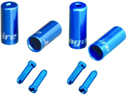 Jagwire Universal Pro Ferrule Kit Single Bike For Braided Casing Blue