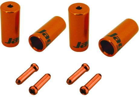Jagwire Universal Pro Ferrule Kit Single Bike For Braided Casing Orange