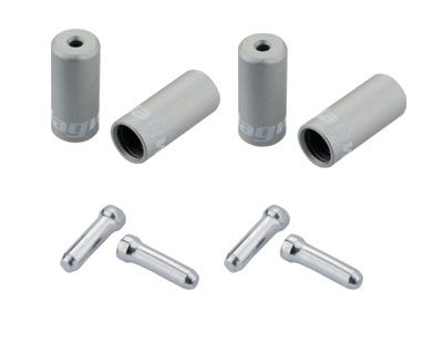 Jagwire Universal Pro Ferrule Kit Single Bike For Braided Casing Silver