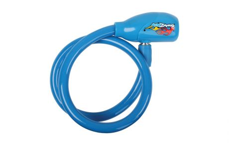 Kidzamo Coiled Cable Lock 600 X 10mm Blue