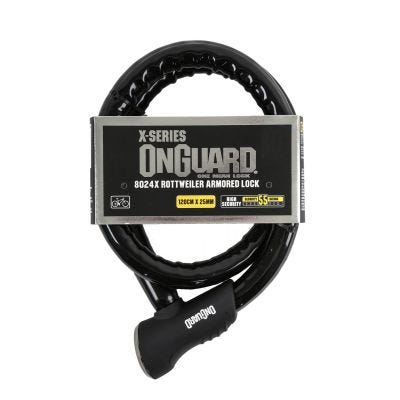 OnGuard X Rottweiler 8024 Armoured Cable Lock 1200 x 25mm