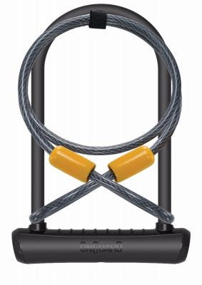 OnGuard Neon U-Lock + Extender Cable Black 115 x 230 x 11mm