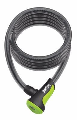 OnGuard Neon Coil Cable Lock Green 1800 x 12mm
