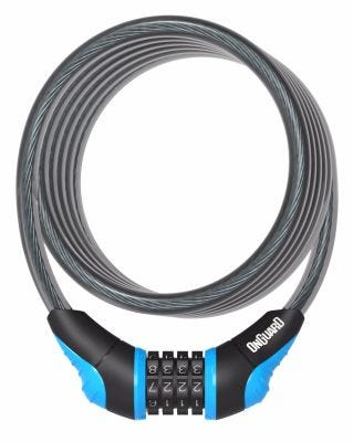 OnGuard Neon Combo Cable Lock Blue 1800 x 10mm
