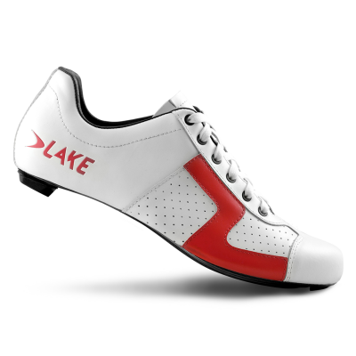 Lake CX1 Nylon Road Shoes White/Red