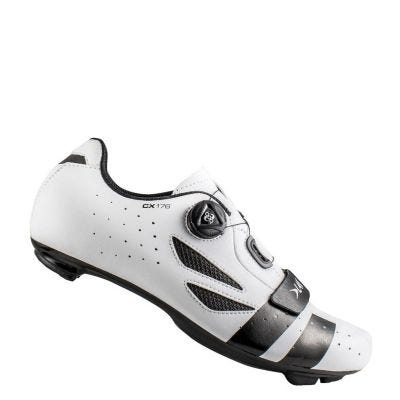Lake CX176 Road Shoe Wide Fit White/Black