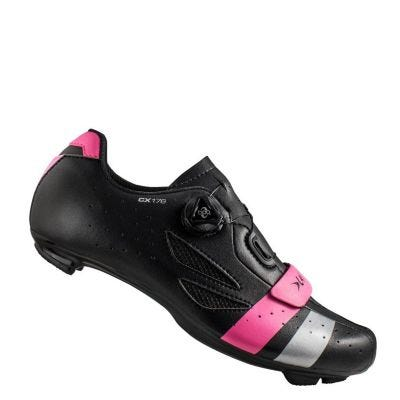 Lake CX176 Road Shoe Black/Pink/Silver