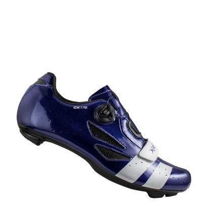 Lake CX176 Road Shoe Wide Fit Blue/White