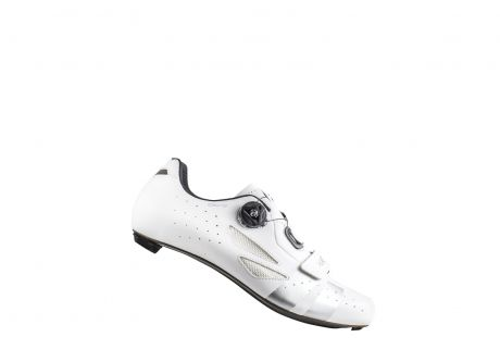 Lake CX218 Carbon Road Shoe Wide Fit White/Silver