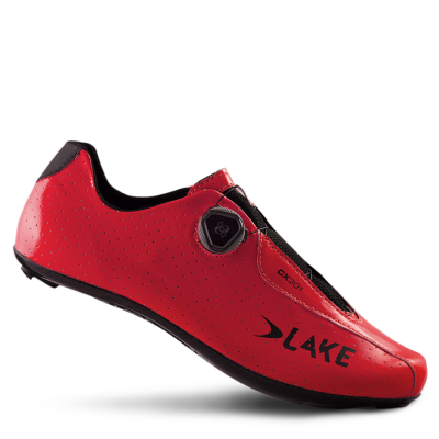 Lake CX301 CF Carbon Road Shoes Red