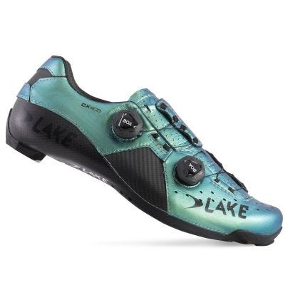 Lake CX403 CFC Carbon Road Shoes Chameleon Green | Side