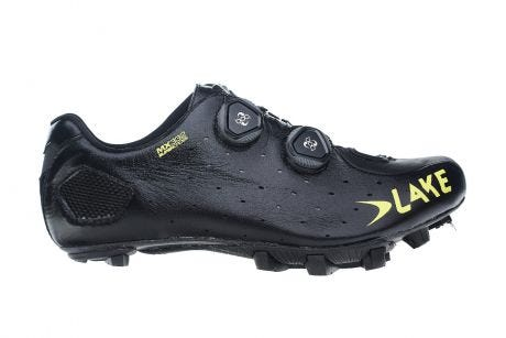Lake MX332 Supercross Shoes Black/Yellow