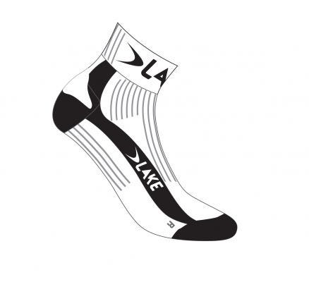 Lake Bioceramic Socks White/Black