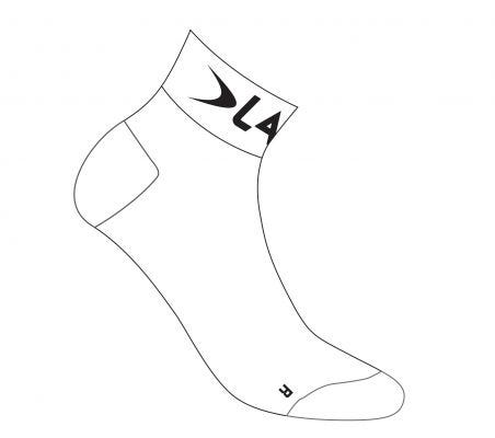 Lake Coolmax Socks White