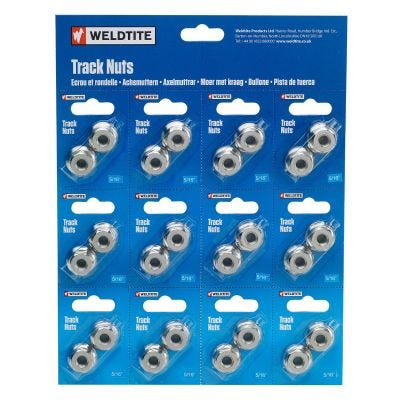 "Weldtite Bike Bits Track Nut 5/16"" x100"