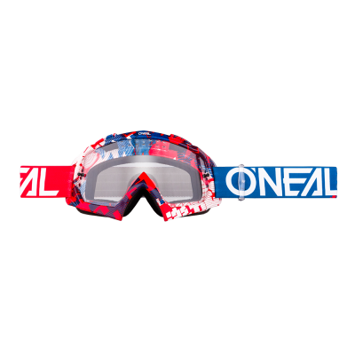 O'Neal b-10 Goggle Pixel Red/Blue-Clear
