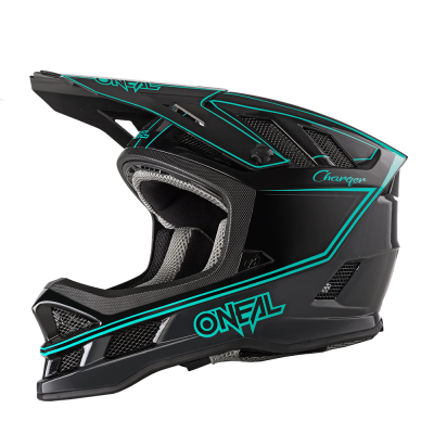 O'Neal Blade Full Face Helmet Charger Black/Teal
