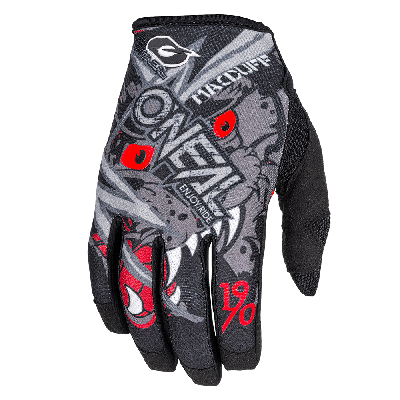 O'Neal Mayhem McDuff Gloves  Grey/Red