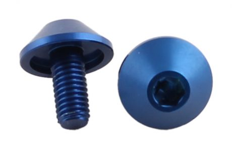 One23 M5 x 15mm Alloy Bolt x4 Blue