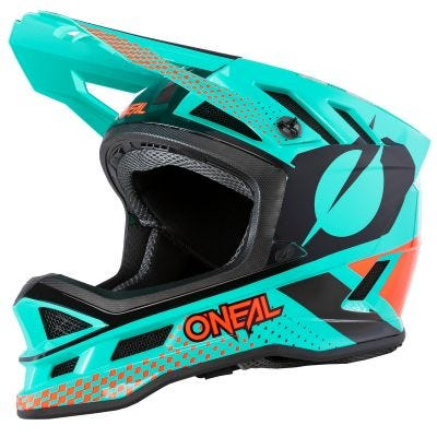 O'Neal Blade Polyacrylite Full Face Helmet Ace Mint/Orange/Black