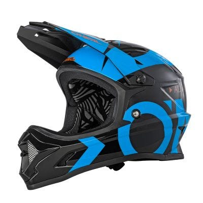 O'Neal Backflip Helmet Slick Black/Blue