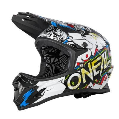 O'Neal Backflip Youth Helmet Villain White