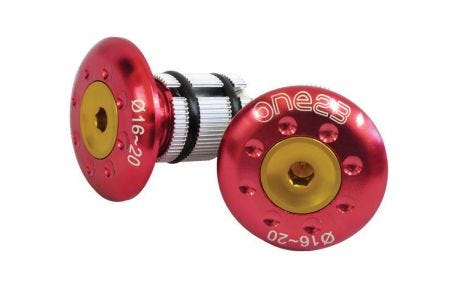 ETC Bar End Plugs Alloy 22.2mm Red