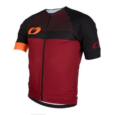 O'Neal Aerial Split Jersey Short Sleeve Red/Orange | Front