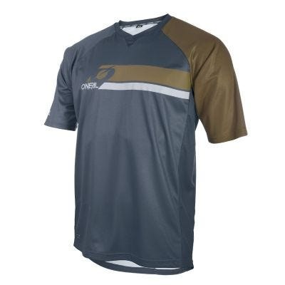 O'Neal PIN IT Short Sleeve Grey/Olive   Front