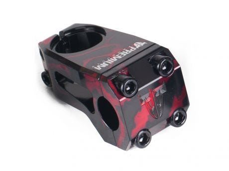 Premium Sub 10 V3 Front Load Ahead BMX Stem Red Smoke 53mm x 22.2mm x 1 1/8""