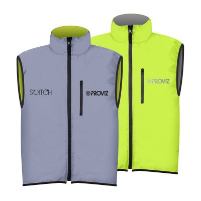 Proviz Switch Mens Gilet Silver/Yellow