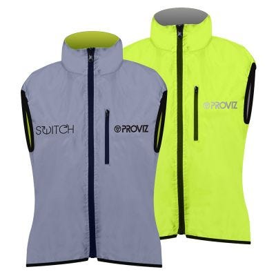 Proviz Gilet Ladies Switch Silver/Yellow