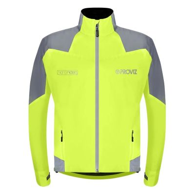 Proviz Nightrider New Jacket Mens Waterproof Yellow