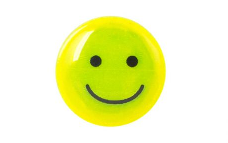 ETC Reflective Smiley Face 17mm Yellow (x15)