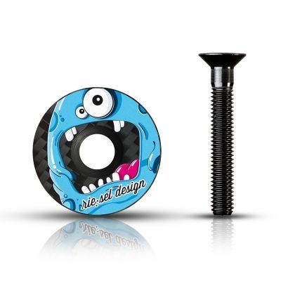"Rie:sel Rie-Sel Stem Cap 1-1/8"" Monster"