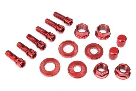 Salt Hardware Bolt Set Red