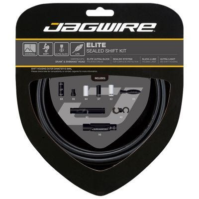 Jagwire Elite Sealed Gear Kit White
