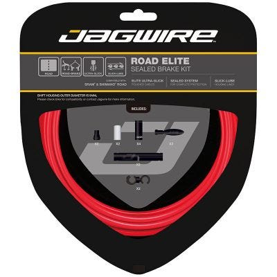 Jagwire Road Elite Sealed Brake Kit Red