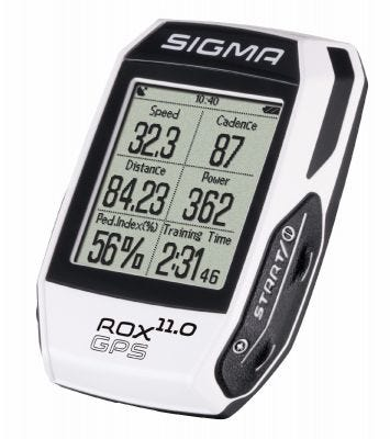 Sigma ROX GPS 11.0 Cycle Computer White (Complete)