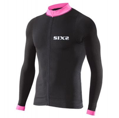 SIXS Bike 4 Stripes Long Sleeve Jersey Black/Pink