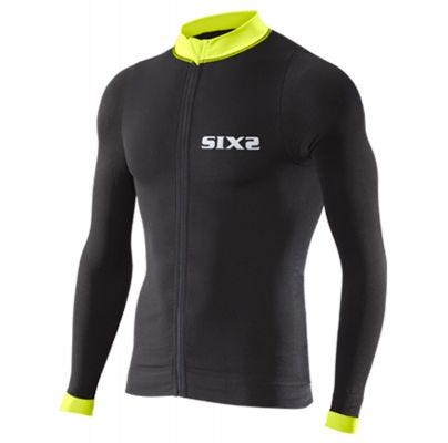 SIXS Bike 4 Stripes Long Sleeve Jersey Black/Yellow