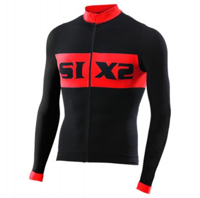 SIXS Bike 4 Luxury Long Sleeve Jersey Black/Red