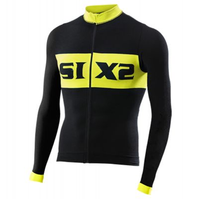 SIXS Bike 4 Luxury Long Sleeve Jersey Black/Yellow