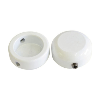 Savage Bar End Plugs Alloy 22.2mm White