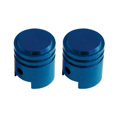 Savage Piston Valve Caps Schrader Blue