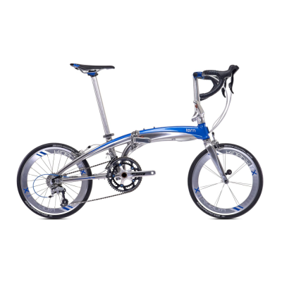 "Tern Verge X18 Folding Bike 20"" Chrome"