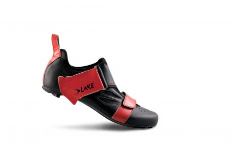 Lake TX223 CF Carbon TRI Shoes Black/Red