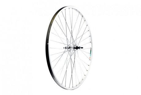 ETC Rear Wheel Road 27 X 1 1/4 Alloy Silver Gear Sided Nutted