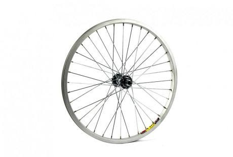 ETC 20 x 1.75 BMX silver solid axle front wheel
