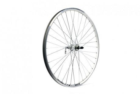 ETC Rear Wheel Hybrid/City 700C Alloy Double Wall Silver Gear Sided Quick Release